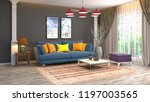 interior of the living room. 3d ... | Shutterstock . vector #1197003565