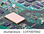 electronic circuit board close...   Shutterstock . vector #1197007042