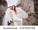the one angel descended from... | Shutterstock . vector #1197010768