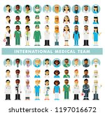 set of doctors people and... | Shutterstock .eps vector #1197016672