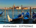 gondolas in  grand canal ... | Shutterstock . vector #1197020662