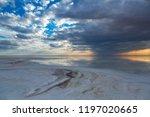 natural salt on lake elton at... | Shutterstock . vector #1197020665