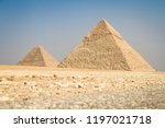 pyramids of giza  egypt | Shutterstock . vector #1197021718