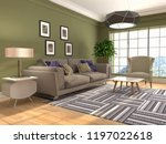 interior of the living room. 3d ... | Shutterstock . vector #1197022618
