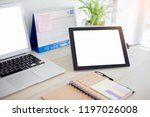blank screen tablets with... | Shutterstock . vector #1197026008