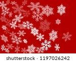 snow flakes falling macro...   Shutterstock .eps vector #1197026242