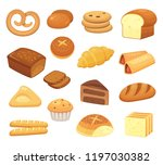 cartoon bread icon. breads and... | Shutterstock .eps vector #1197030382
