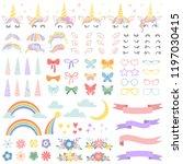 unicorn constructor. pony mane... | Shutterstock .eps vector #1197030415