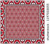 design print for kerchief. the... | Shutterstock .eps vector #1197033055