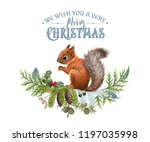 vector christmas composition... | Shutterstock .eps vector #1197035998