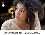young afro american woman in an ... | Shutterstock . vector #119703982