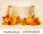 happy thanksgiving background... | Shutterstock .eps vector #1197041815