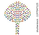 abstract colorful tree made of...   Shutterstock .eps vector #1197047125