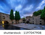 medieval street in the old... | Shutterstock . vector #1197047908