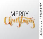 merry christmas oil paint brush ...   Shutterstock .eps vector #1197051712