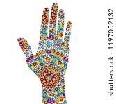 hand painting in ethnic... | Shutterstock .eps vector #1197052132
