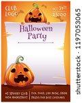 happy halloween editable poster ...   Shutterstock .eps vector #1197053065