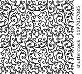 black and white swirly...   Shutterstock .eps vector #1197057085
