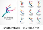 abstract people logo design.... | Shutterstock .eps vector #1197066745