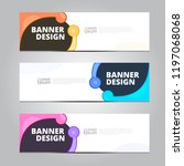 vector abstract design banner... | Shutterstock .eps vector #1197068068