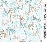 coconut palm tree pattern... | Shutterstock .eps vector #1197069352