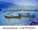 nha trang  vietnam october 3 ... | Shutterstock . vector #1197070252