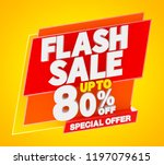 flash sale up to 80   off... | Shutterstock . vector #1197079615