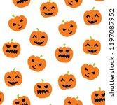 halloween vector doodle...   Shutterstock .eps vector #1197087952