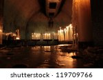 candles with flame inside the... | Shutterstock . vector #119709766