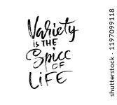 variety is the spice of life.... | Shutterstock .eps vector #1197099118