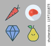 cut icon set. vector set about... | Shutterstock .eps vector #1197101875