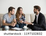 young couple  family at meeting ... | Shutterstock . vector #1197102832