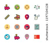 board icon set. vector set... | Shutterstock .eps vector #1197104128