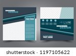 square flyer template. simple... | Shutterstock .eps vector #1197105622