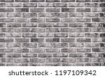 black and white brick wall...   Shutterstock . vector #1197109342