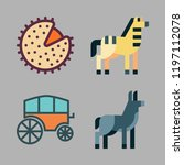 horse icon set. vector set... | Shutterstock .eps vector #1197112078