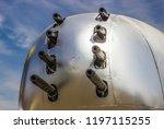 eight machine guns on nose of... | Shutterstock . vector #1197115255