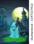 halloween party poster... | Shutterstock .eps vector #1197117412
