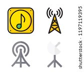 radio icon set. vector set... | Shutterstock .eps vector #1197119395