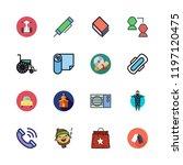 caucasian icon set. vector set... | Shutterstock .eps vector #1197120475