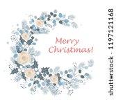 merry christmas wreath design....   Shutterstock .eps vector #1197121168