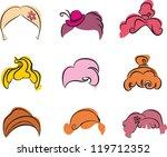 hair styles | Shutterstock .eps vector #119712352