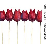 watercolor abstract tulips. | Shutterstock . vector #119712406