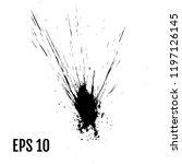 ink splashes  ink blots ... | Shutterstock .eps vector #1197126145