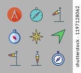 direction icon set. vector set... | Shutterstock .eps vector #1197128062