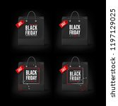 black friday concept. set of... | Shutterstock .eps vector #1197129025