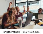 group of young business team... | Shutterstock . vector #1197135538