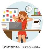 rich desperate business woman... | Shutterstock .eps vector #1197138562