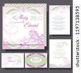 wedding invitation with roses... | Shutterstock .eps vector #1197138595