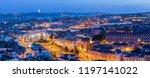 lisbon city skyline at twilight ... | Shutterstock . vector #1197141022